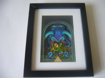 Legend of Zelda Wind Waker Botanical Battle  3D Diorama Shadow Box